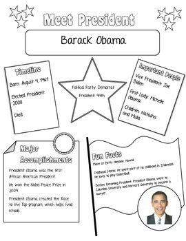 Meet the Presidents Mini Poster