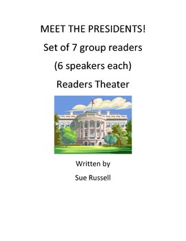 Meet the Presidents guided reading, group readers or readers theater