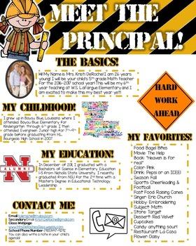 Meet the Principal- EDITABLE- Construction