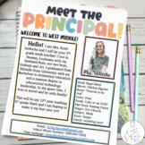 Meet the Principal Newsletter Template EDITABLE Bright Stripes