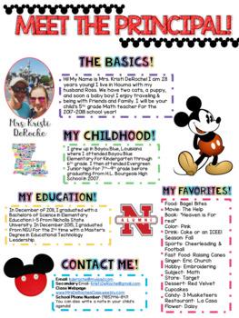 Meet the Principal Newsletter- EDITABLE - Magical