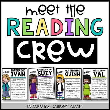 Meet the Reading Crew - Reading Strategies Posters