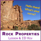 Meet the Rocks - rock properties lesson & identification key
