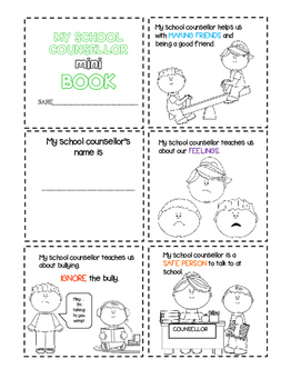 Meet the SCHOOL COUNSELLOR mini Book (Canadian/UK Spelling)