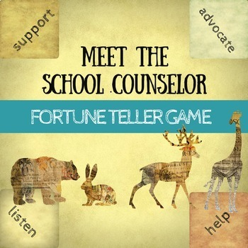 Meet the School Counselor Activity: Fortune Teller Game fo