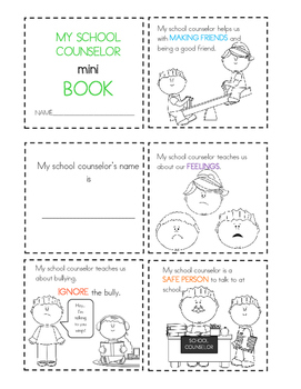 Meet the School Counselor Mini Book (Male Counselor Version)