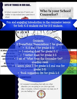 Meet the School Counselor: PowerPoints and activities for grades K-2 and 3-5