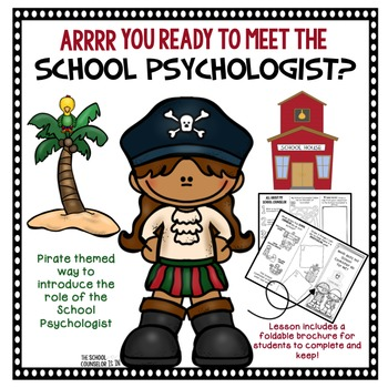 Meet The School Psychologist By The School Counselor Is In Tpt