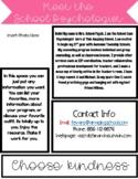 Meet the School Psychologist EDITABLE Newsletter