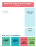 Meet the School Psychologist, Editable PDF Flier