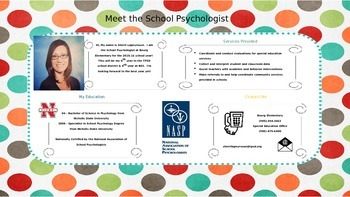 Meet the School Psychologist brochure -- EDITABLE