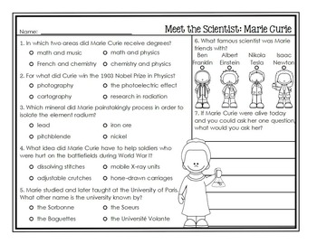 Scientist Study Marie Curie