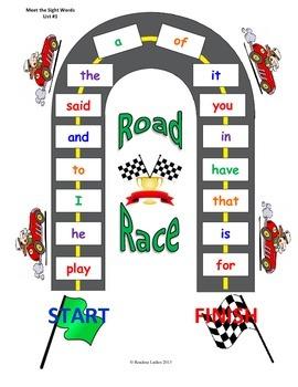 Meet the Sight Words Custom Road Race Game (Preschool Prep Series )