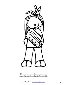 Meet the Sioux Coloring Book-Level A