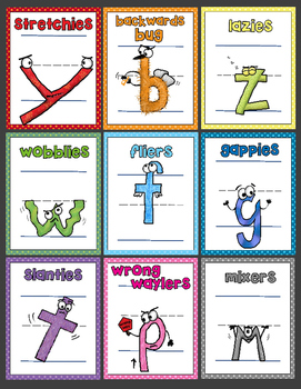 Meet the Sloppies! Full-Page Handwriting Posters