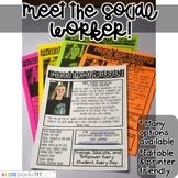 Meet the Social Worker Newsletter Template- EDITABLE - Basic Printer Friendly
