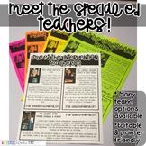Meet the Special Ed Teachers Newsletter- EDITABLE - Basic Printer Friendly