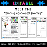 Meet the Teacher Template for Special Education Teachers