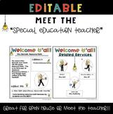 Meet the Teacher Editable Templates for Special Education