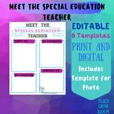 Meet the Special Education Teacher  Letter