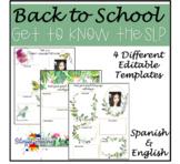 Meet the Speech Therapist! EDITABLE (Spanish & English)