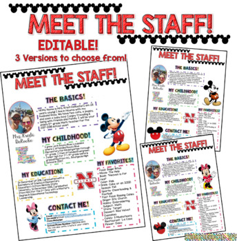 Meet the Staff Newsletter - EDITABLE - Magical