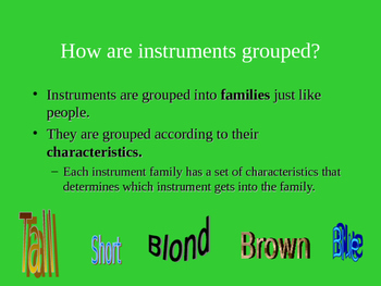 Meet the String Family PowerPoint