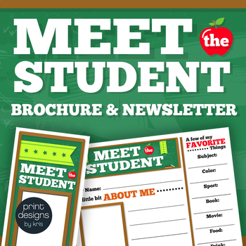 Meet the Student Flyer, Newsletter or Brochure For First Day of School
