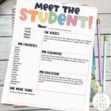 Meet the Student Newsletter- EDITABLE