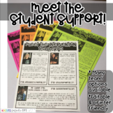 Meet the Student Support Newsletter Template- EDITABLE - Basic Printer Friendly