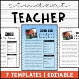 Meet the Student Teacher | Templates