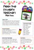 Meet the Student Teacher Editable Template