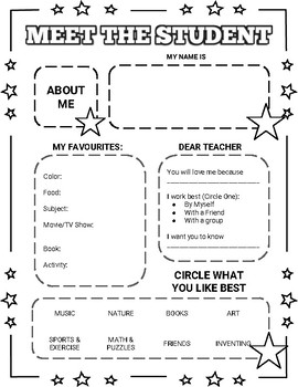 Meet the Student/Teacher (Editable in Google Slides)