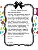 Meet the Student Teacher Letter