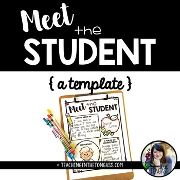 Back to School Meet the Student Template