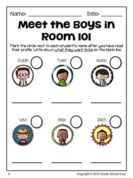 Meet the Students in Rooms 101 & 202: 24 Reading Comprehension Passages