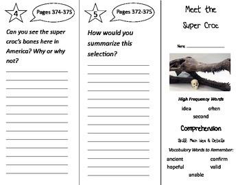 Meet the Super Croc Trifold - Treasures 2nd Grade Unit 3 W