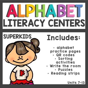Meet the Superkids Kindergarten Literacy Centers Units 7-13