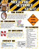 Meet the Support Staff- EDITABLE- Construction Theme
