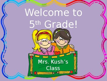 Back to School...Welcome to Our Class!
