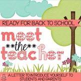 Meet the Teacher Back to School Letter