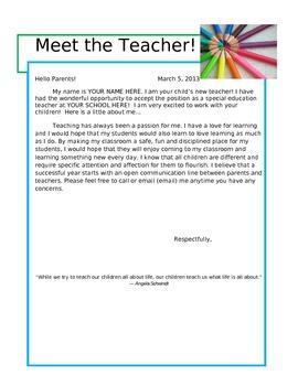 Meet the Teacher!