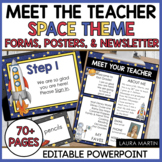 Meet the Teacher Open House EDITABLE templates Space Theme | Back to School