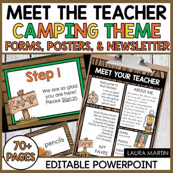 Meet the Teacher-Camping Theme