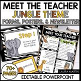 Meet the Teacher Open House EDITABLE templates Jungle Theme | Back to School