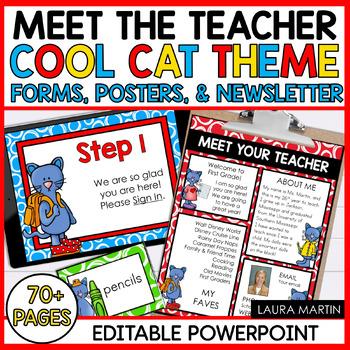 Meet the Teacher-Cool Cat Theme