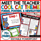 Meet the Teacher Open House EDITABLE templates Cool Cat Theme   Back to School