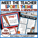 Meet the Teacher Open House EDITABLE templates Sports Them