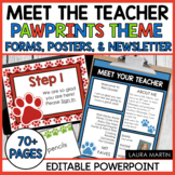 Meet the Teacher Open House EDITABLE templates Pawprints Theme | Back to School