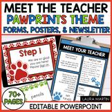 Meet the Teacher Open House EDITABLE templates Pawprints T